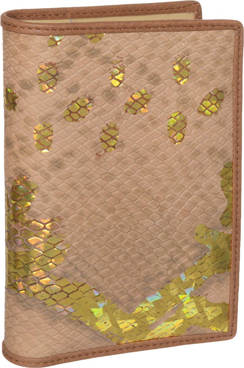 Обложка для паспорта женская Piero, цвет: коричневый, золотистый. ЖКГ1501240_10ЖКГ1501240_10Обложка для паспорта Piero выполнена из натуральной кожи с тиснением под змею, декорирована золотистым покрытием. На внутреннем развороте расположены два вертикальных кармана из прозрачного пластика. Обложка не только поможет сохранить внешний вид ваших документов и защитить их от повреждений, но и станет стильным аксессуаром, идеально подходящим вашему образу. Обложка упакована в фирменную коробку с названием бренда. Обложка для паспорта стильного дизайна может быть достойным и оригинальным подарком.