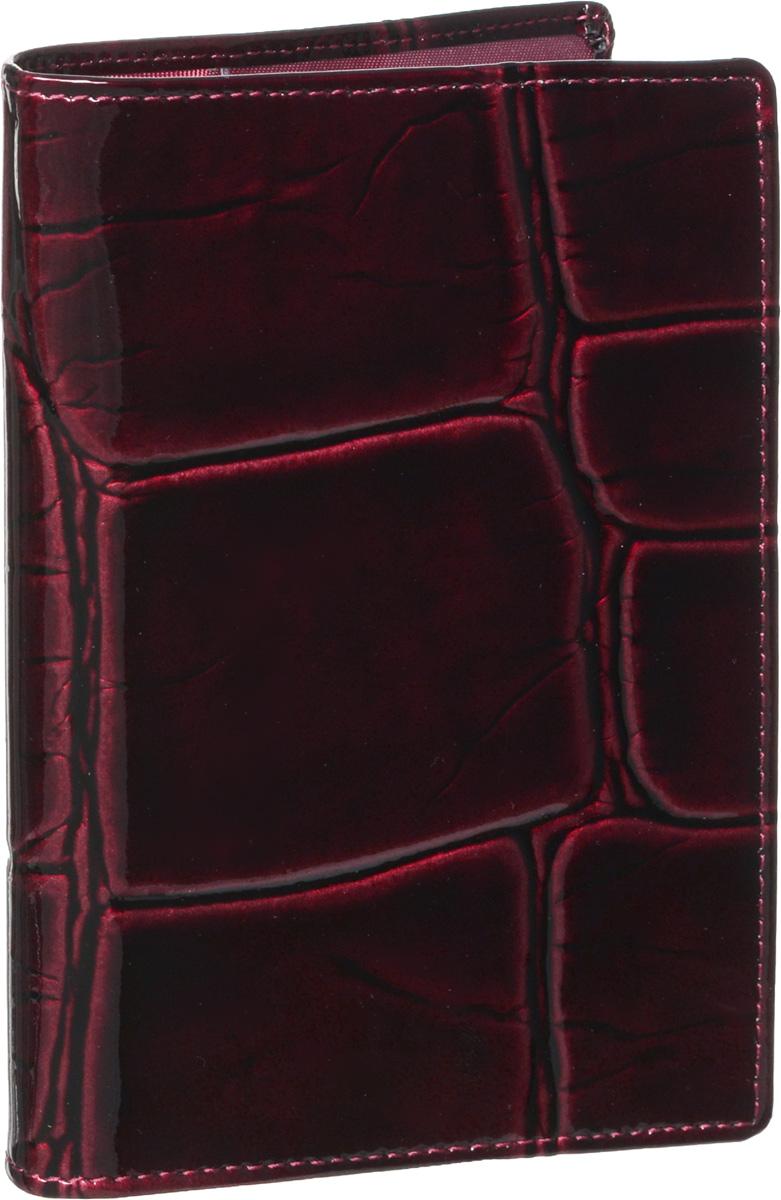 Обложка для паспорта женская Piero, цвет: рубиновый. 42М6_90096_21_П_2242М6_90096_21_П_22Стильная и элегантная обложка для паспорта Piero выполнена из натуральной лаковой кожи с декоративным тиснением под рептилию. Внутри расположены два прозрачных клапана, с помощью которых документ надежно зафиксируется. Обложка не только сохранит внешний вид документов, но и станет стильным аксессуаром, который подчеркнет ваш образ. Изделие упаковано в фирменную коробку с логотипом бренда. Такой функциональный аксессуар станет замечательным подарком человеку, ценящему качественные и модные вещи.