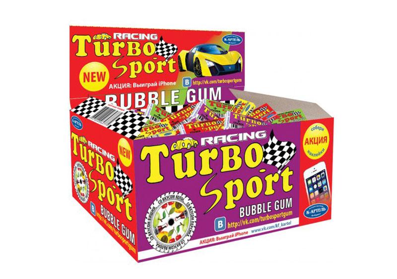 Жевательная резинка Вкусная помощь Turbo, 100 шт8680861069075_турбо красныйЖвачка Турбо и сейчас остается такой же вкусной, настоящей, и все с теми же изумительными вкладышами. В упаковке - 100 вкуснейших жвачек с знакомыми с детства вкусами: кола, персик, яблоко и вишня.