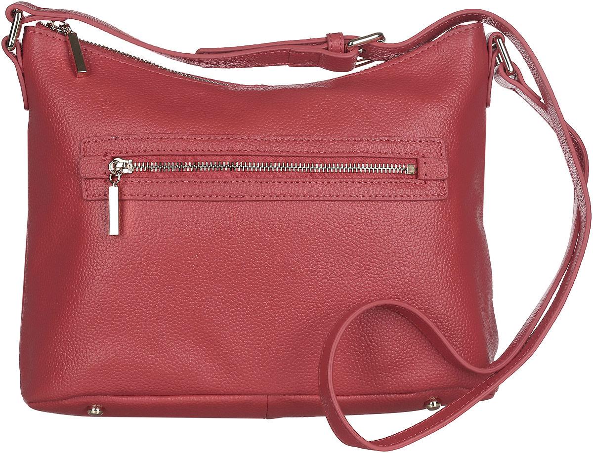 Сумка кросс-боди женская Fabretti, цвет: красный. N2556N2556-redСтильная женская сумка кросс-боди Fabretti выполнена из натуральной кожи зернистой фактуры и оформлена металлической фурнитурой. Сумка не имеет жесткого каркаса и держит форму в наполненном виде. Изделие состоит из одного отделения, закрывающегося на застежку-молнию. Внутри расположены врезной карман на молнии, два накладных кармана для мелочей и телефона и небольшой врезной кармашек на молнии. Лицевая и задняя стороны сумки дополнены врезными карманами на молниях. Сумка оснащена несъемным плечевым ремнем, регулируемым по длине. На дне сумки предусмотрены металлические ножки, защищающие ее от механических повреждений. Прилагается фирменный текстильный чехол для хранения изделия. Оригинальный аксессуар позволит вам завершить образ и быть неотразимой.
