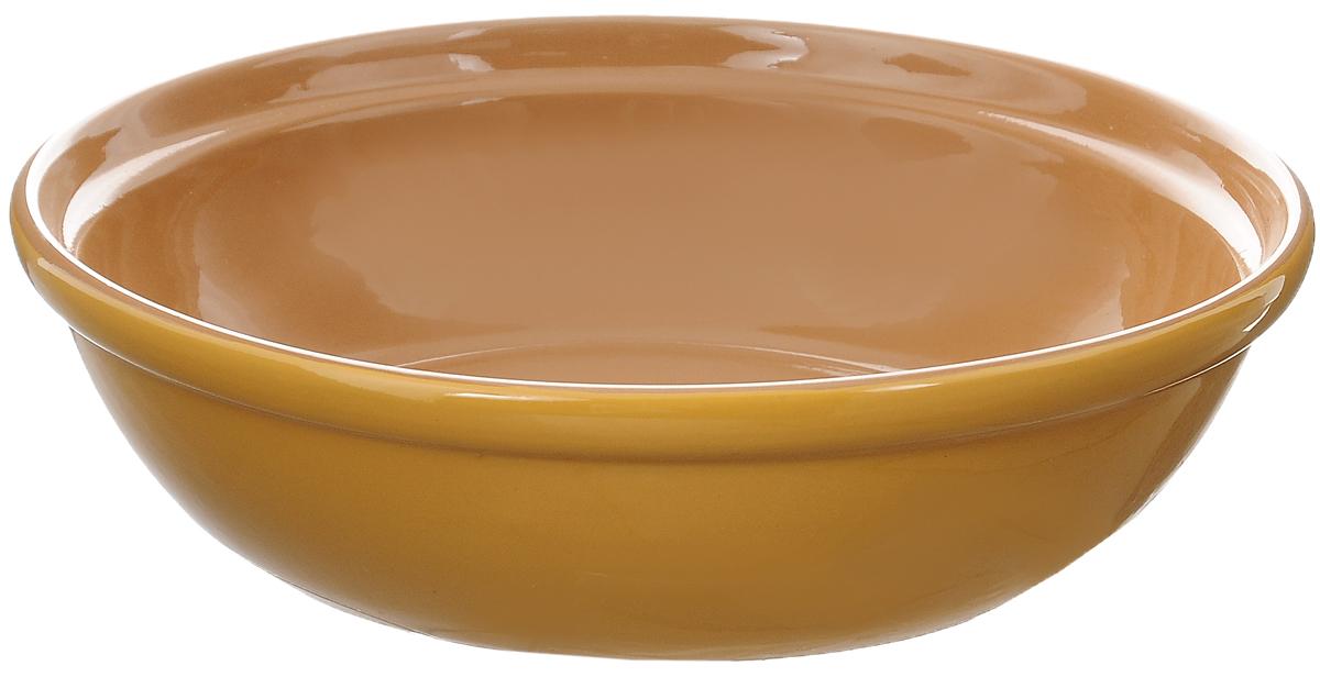 Салатник Борисовская керамика Модерн, цвет: желтый, светло-коричневый, 1 лРАД00000830_желтыйСалатник Борисовская керамика Модерн выполнен из высококачественной глазурованной керамики. Этот удобный салатник придется по вкусу любителям здоровой и полезной пищи. Благодаря современной удобной форме, изделие многофункционально и может использоваться хозяйками на кухне как в виде салатника, так и для запекания продуктов, с последующим хранением в нем приготовленной пищи. Посуда термостойкая. Можно использовать в духовке и микроволновой печи. Диаметр (по верхнему краю): 22 см. Высота стенки: 6 см.