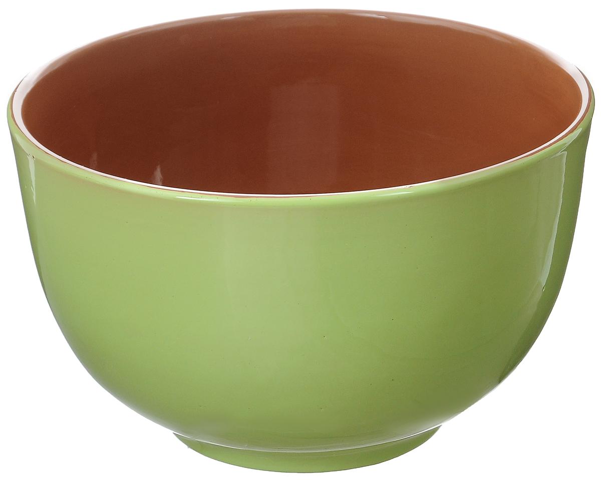 Салатник Борисовская керамика Радуга, цвет: салатовый, коричневый, 2 лРАД00000524Салатник Борисовская керамика Радуга выполнен из высококачественной глазурованной керамики. Этот большой и вместительный салатник необходим на любом застолье, он идеально подходит для сервировки салатов и закусок. Изделие термостойкое, поэтому его можно использовать для запекания продуктов в духовке и микроволновой печи, с последующим хранением в нем приготовленной пищи. Такой яркий салатник отлично дополнит сервировку стола и подчеркнет ваш изысканный вкус. Диаметр (по верхнему краю): 20 см. Высота стенки: 12 см.