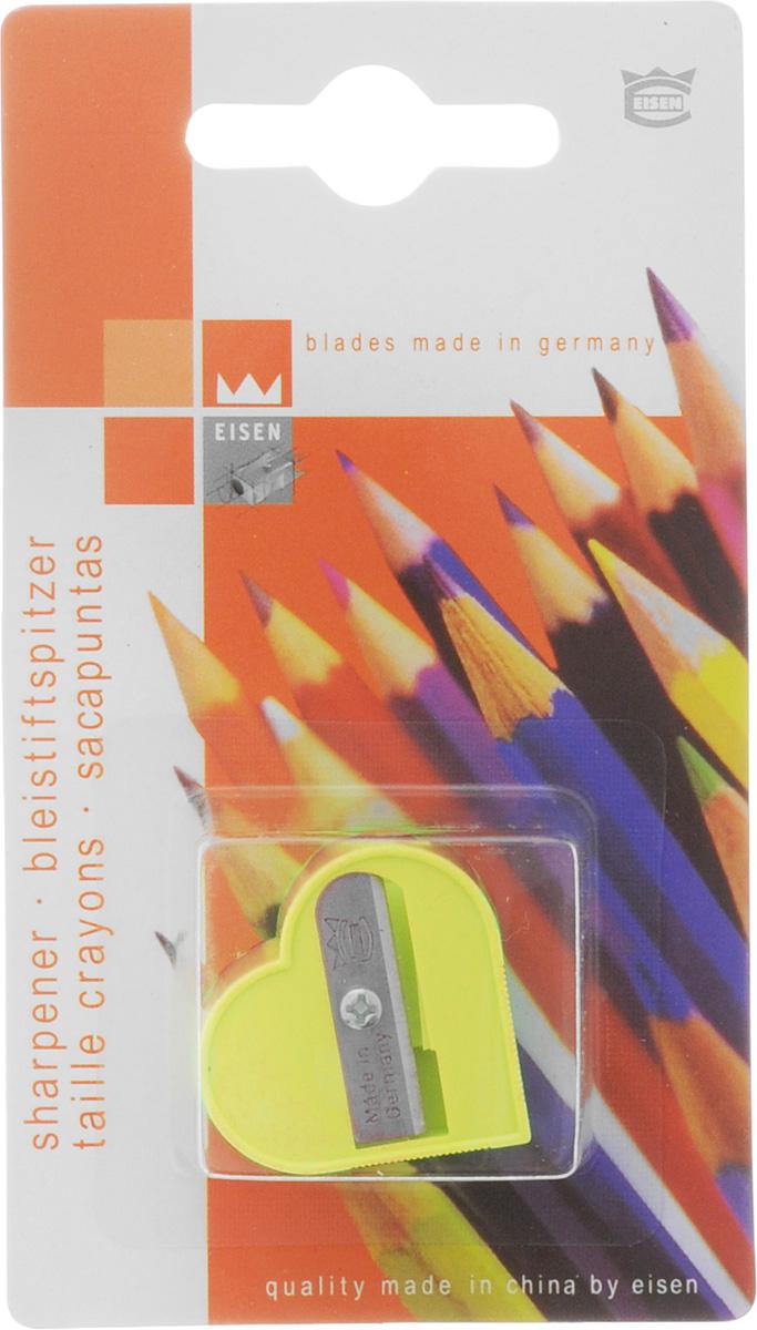 Eisen Точилка Сердце цвет желтый111.01.999/BL_желтыйТочилка Eisen Сердце предназначена для затачивания классических простых и цветных карандашей. Точилка изготовлена из качественного материала и имеет рельефную область захвата. Острые лезвия обеспечивают высококачественную и точную заточку карандашей.