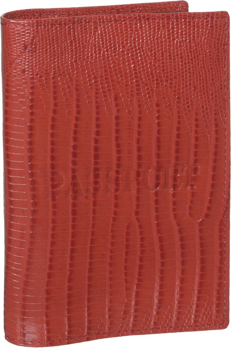 Обложка для паспорта женская Piero, цвет: красный. 42М6_90106_60_П_2242М6_90106_60_П_22Стильная и элегантная обложка для паспорта Piero выполнена из натуральной кожи с декоративным тиснением под рептилию. Обложка декорирована тисненой надписью Passport. Внутри расположены два прозрачных клапана, с помощью которых документ надежно зафиксируется. Обложка не только сохранит внешний вид документов, но и станет стильным аксессуаром, который подчеркнет ваш образ. Изделие упаковано в фирменную коробку с логотипом бренда. Такой функциональный аксессуар станет замечательным подарком человеку, ценящему качественные и модные вещи.