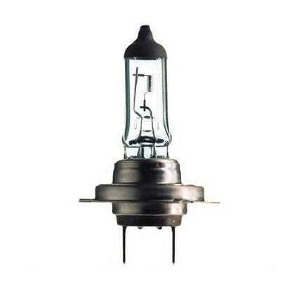 Лампа автомобильная галогенная Philips Vision, для фар, цоколь H7 (PX26d), 12V, 55W. 12972PRC112972PRC1Автомобильная галогенная лампа Philips Vision произведена из запатентованного кварцевого стекла с УФ фильтром Philips Quartz Glass. Кварцевое стекло Philips в отличие от обычного твердого стекла выдерживает гораздо большее давление смеси газов внутри колбы, что препятствует быстрому испарению вольфрама с нити накаливания. Кварцевое стекло выдерживает большой перепад температур, при попадании влаги на работающую лампу изделие не взрывается и продолжает работать. Лампы Philips Vision дают на 30% больше света по сравнению со стандартными лампами. Они создают превосходный световой поток, отличаются приемлемой ценой и соответствуют стандартам качества для оригинального оборудования. Благодаря улучшенному распределению света лампы Philips Vision способны освещать дорогу на большем расстоянии, повышая безопасность и комфорт вождения. Автомобильные галогенные лампы Philips удовлетворят все нужды автомобилистов: дальний свет, ближний свет, передние противотуманные фары,...