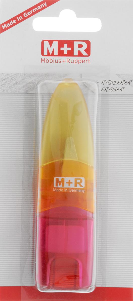 M+R Точилка Ellipstick Swing с ластиком цвет желтый оранжевый розовый 0945-0002_желтый,оранжевый,розовый