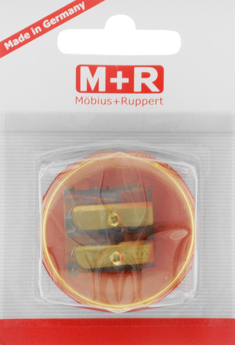 M+R Точилка Top Duo цвет желтый красный0344-0002_желтый, красныйТочилка M+R Top Duo выполнена из прочного пластика. В точилке имеются два отверстия для карандашей разного диаметра. Точилка подходит для различных видов карандашей. При повороте пластикового контейнера, отверстия закрываются. Полупрозрачный контейнер для сбора стружки позволяет визуально контролировать уровень заполнения и вовремя производить очистку.