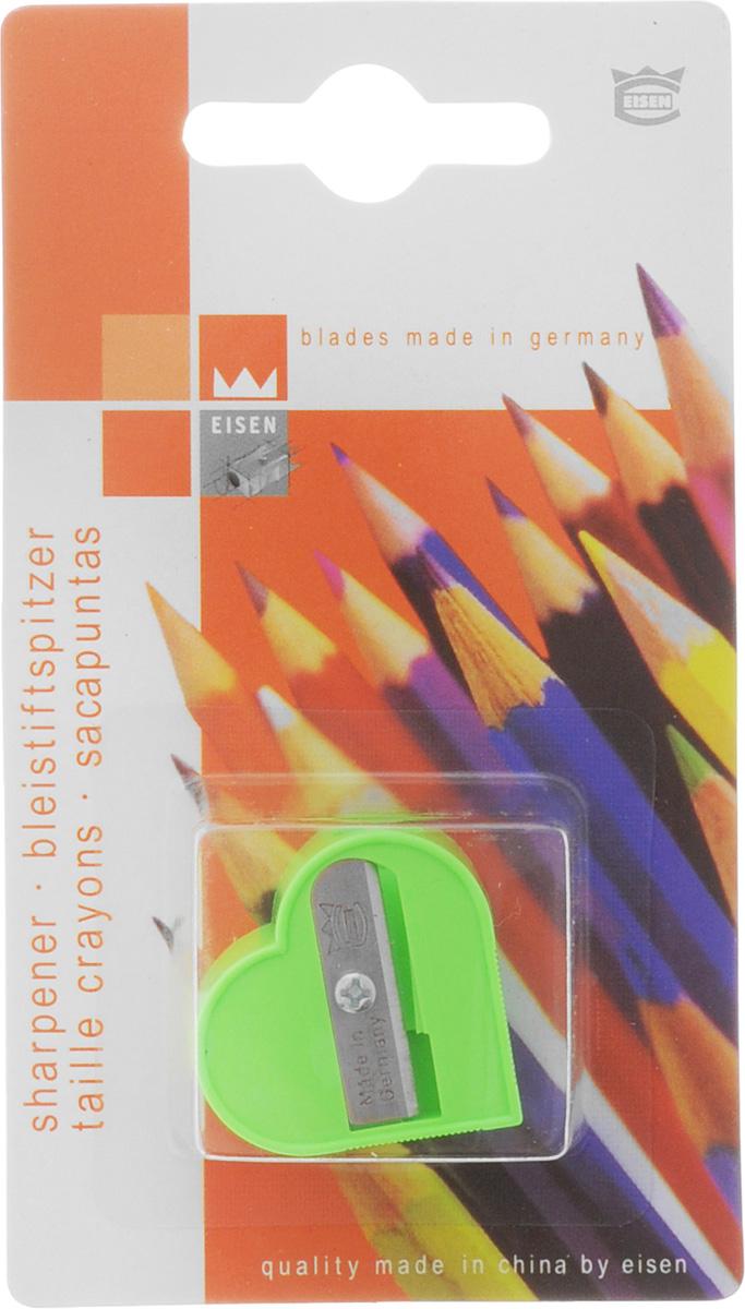 Eisen Точилка Сердце цвет салатовый111.01.999/BL_салатовыйТочилка Eisen Сердце предназначена для затачивания классических простых и цветных карандашей. Точилка изготовлена из качественного материала и имеет рельефную область захвата. Острые лезвия обеспечивают высококачественную и точную заточку карандашей.