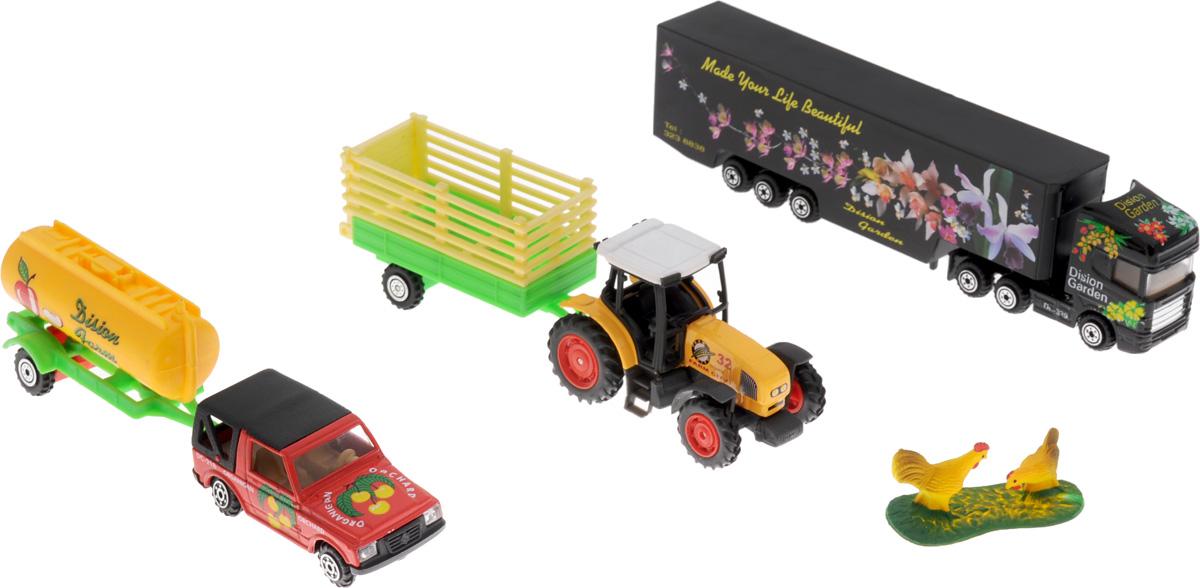 Pro-Engine Игровой набор Зеленая ферма с курамиPT403_курыИгровой набор Pro-Engine Зеленая ферма поможет малышу разыграть сюжет на ферме. В ней смогут жить домашние животные и работать человечки. В комплекте представлены трактор, прицеп, фигурки куриц и другие аксессуары. Ребенок будет с удовольствием придумывать забавные ситуации и проигрывать их. Игра с набором способствует развитию мелкой моторики, тактильных ощущений, фантазии, логического и образного мышления. Все игрушки изготовлены из яркого и безопасного материала.