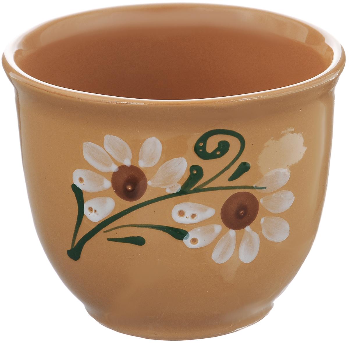 Стакан Борисовская керамика Cтандарт, 300 млОБЧ00000577Стакан Борисовская керамика Cтандарт выполнен из высококачественной глазурованной керамики. Внешние стенки изделия декорированы цветочным узором. Керамика не только сохраняет тепло, она сохраняет и прохладу. Напиток в таком стакане дольше будет холодным. Или горячим, это уже как вы захотите. Яркий дизайн придется по вкусу и ценителям классики, и тем, кто предпочитает утонченность и изысканность. Посуда термостойкая. Можно использовать в духовке и микроволновой печи. Диаметр (по верхнему краю): 10,5 см. Высота стакана: 8,5 см.