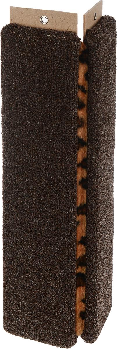 Когтеточка Меридиан, настенная, угловая, цвет: темно-коричневый, белый, черный, длина 55 смК022_коричневыйУгловая когтеточка Меридиан предназначена для стачивания когтей вашей кошки и предотвращения их врастания. Волокна ковролина обеспечивает естественный уход за когтями питомца. Когтеточка позволяет сохранить неповрежденными мебель и другие предметы интерьера. Угловая когтеточка может крепиться на смежных поверхностях стен и пола. Длина когтеточки: 55 см. Длина рабочей части: 52 см.
