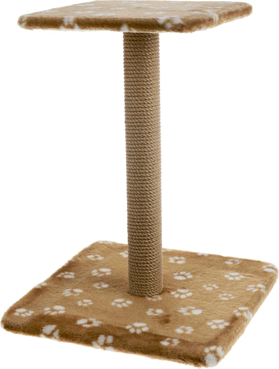 Когтеточка Меридиан Зонтик, цвет: светло-коричневый, белый, бежевый, 40 х 40 х 50 смК506 Ла_светло-коричневыйКогтеточка Меридиан Зонтик поможет сохранить мебель и ковры в доме от когтей вашего любимца, стремящегося удовлетворить свою естественную потребность точить когти. Когтеточка изготовлена из дерева, искусственного меха и джута. Товар продуман в мельчайших деталях и, несомненно, понравится вашей кошке. Сверху имеется полка. Всем кошкам необходимо стачивать когти. Когтеточка - один из самых необходимых аксессуаров для кошки. Для приучения к когтеточке можно натереть ее сухой валерьянкой или кошачьей мятой. Когтеточка поможет вашему любимцу стачивать когти и при этом не портить вашу мебель. Размер основания: 40 х 40 см. Высота когтеточки: 50 см. Размер полки: 31 х 31 см.