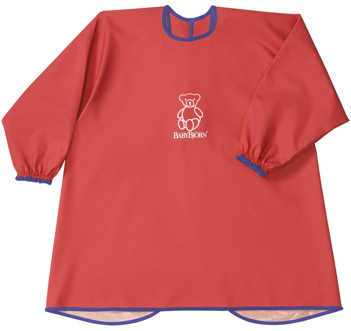 BabyBjorn Рубашка для кормления цвет красный0442.85Мягкая и практичная рубашка BabyBjorn надежно защитит одежду вашего ребенка во время кормления или занятия творчеством. С удобными застежками-кнопками на спине и мягкими, эластичными манжетами, рубашка защищает одежду малыша сзади и спереди от воды, еды, красок и всего того, что можно пролить или от того, чем можно испачкаться. Допускается машинная стирка.