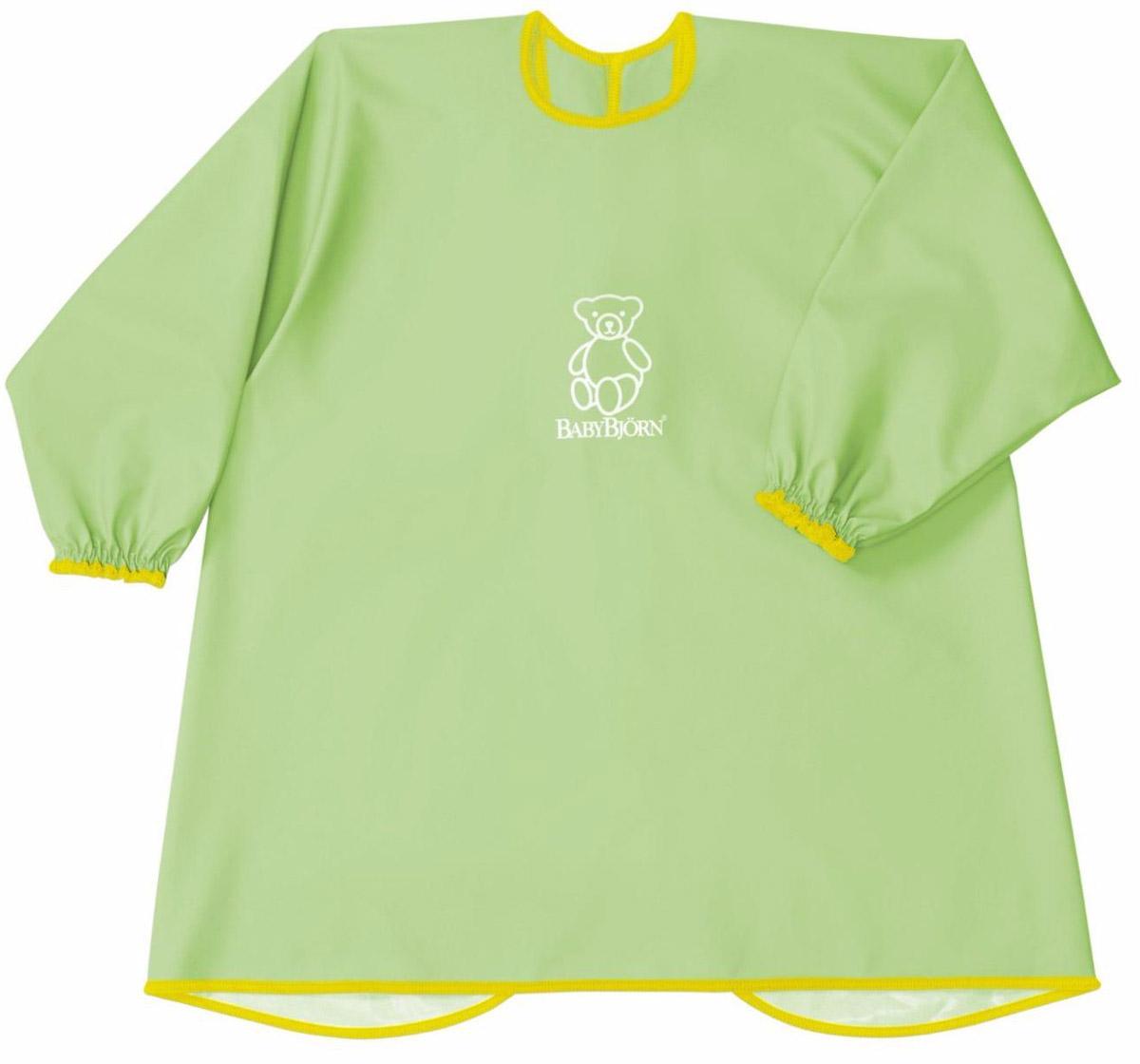 BabyBjorn Рубашка для кормления цвет зеленый0442.88Мягкая и практичная рубашка BabyBjorn надежно защитит одежду вашего ребенка во время кормления или занятия творчеством. С удобными застежками-кнопками на спине и мягкими, эластичными манжетами, рубашка защищает одежду малыша сзади и спереди от воды, еды, красок и всего того, что можно пролить или от того, чем можно испачкаться. Допускается машинная стирка.
