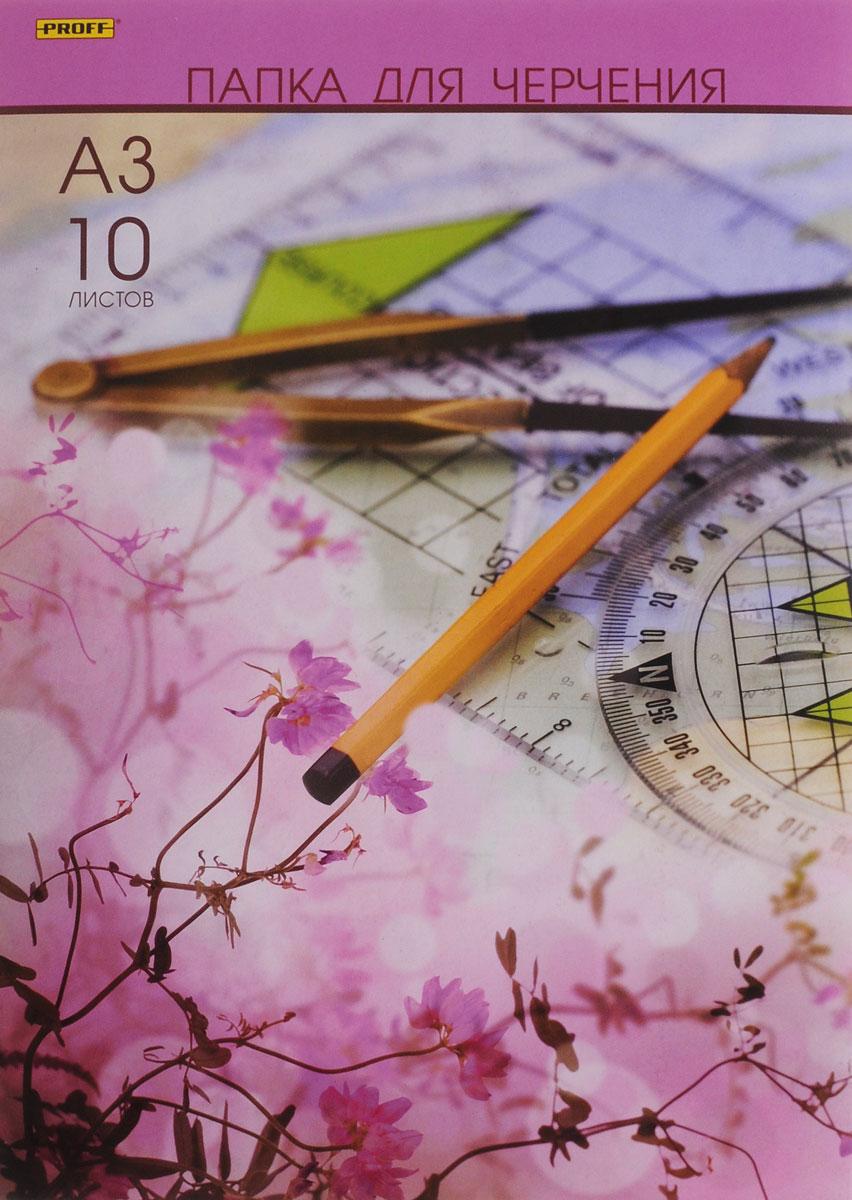 Proff Папка для черчения цвет розовый 10 листов формат А3ПЧA31007 003_розовыйУчащиеся технических учебных заведений по достоинству оценят высокое качество этой форматной бумаги для черчения. Бумага устойчива к истиранию, имеет верхний проклеенный слой. Может также использоваться для карандашных набросков или для рисования акварелью в технике по сухому. 10 листов бумаги упакованы в картонную папку.