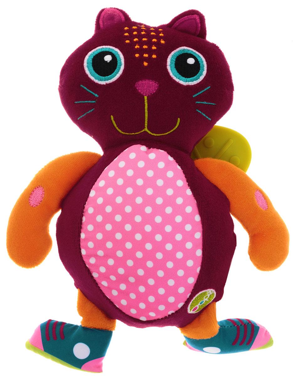 Oops Развивающая игрушка-прорезыватель Кошка ДжериO 13002.00_котРазвивающая игрушка-прорезыватель Oops Кошка Джери не оставит равнодушным ни одного малыша. Выполненная из разнофактурных материалов, игрушка служит не только прекрасным средством при прорезывании зубов, но и помогает развивать цветовое и слуховое восприятие, тактильную чувствительность и моторику. Животик кота шелестит при надавливании. При встряхивании гремит встроенная погремушка. Сзади игрушки находятся прорезыватели. Забавная игрушка станет для малыша отличным компаньоном в играх и обязательно поднимет настроение.