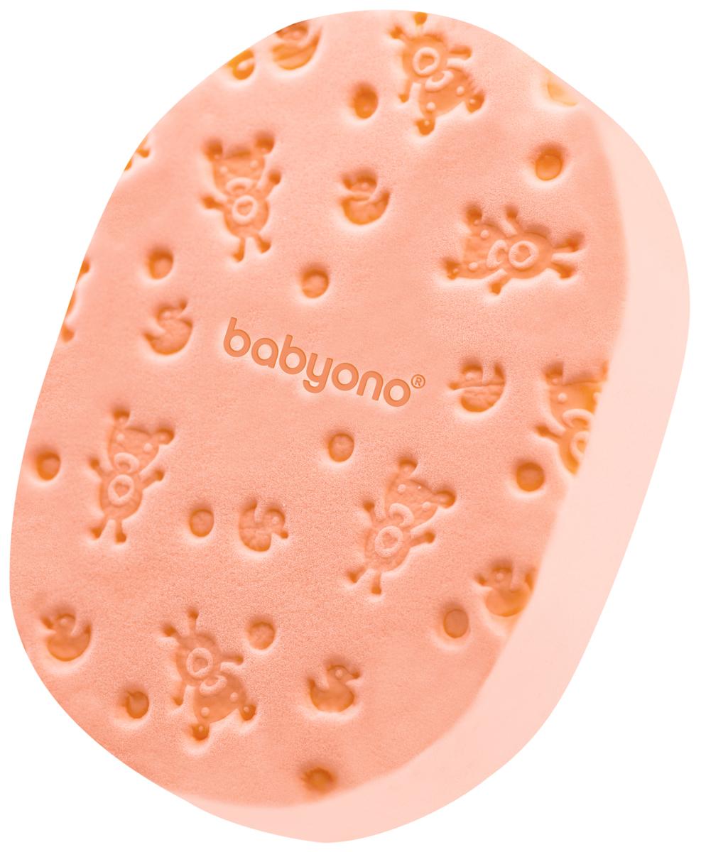 BabyOno Губка для купания Soft цвет персик