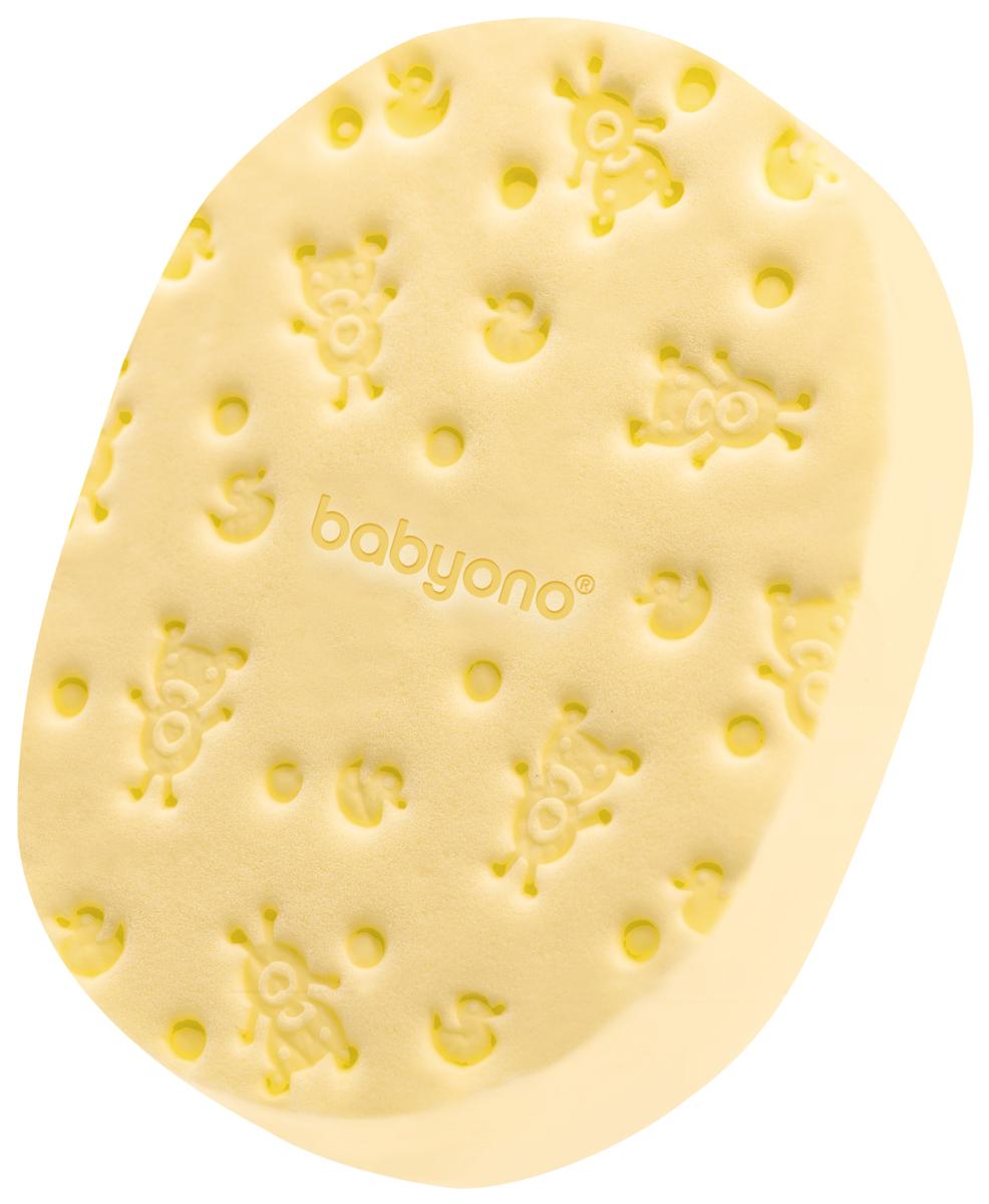 BabyOno Губка для купания Soft цвет желтыйО63/01