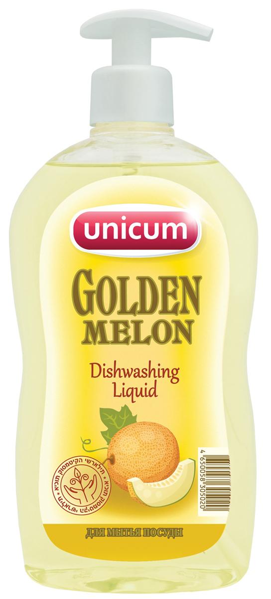 Средство для мытья посуды Unicum Золотая Дыня, 550 мл305020Средство для мытья посуды Unicum Золотая Дыня - высококонцентрированное современное средство для ручного мытья всех видов посуды и изделий из водостойких материалов. Средство легко удаляет остатки жиров, соусов, кремов, присохших частиц пищи, в то же время бережно относится к коже рук. Благодаря наличию активных наночастиц, средство прекрасно смывается со всех видов посуды даже холодной и жесткой водой.