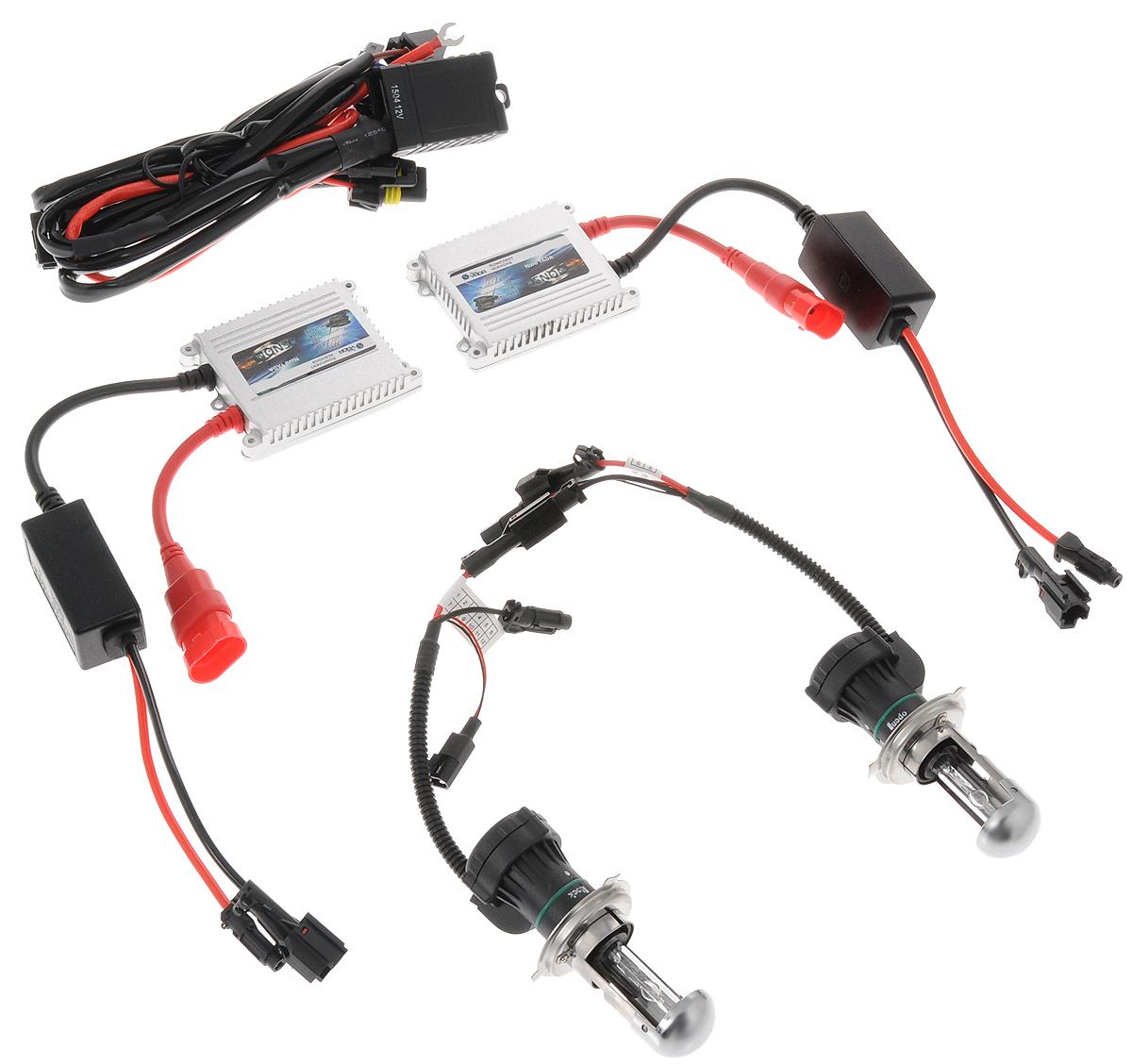 Комплект ксенона Nord YADA, цоколь H4, 9-16V, 35 W. 903145903145Ксеноновый комплект Nord YADA предназначен для использования в транспортных средствах. Он обеспечивает стабильное освещение дороги при плохих погодных условиях и в темноте. Комплект предназначен для использования в фарах ближнего и дальнего света. Биксеноновый комплект обеспечивает легкий переход от галогенового освещения к освещению ксеноном. Позволяет улучшить освещение дороги, повысить безопасность и снизить показатели потребляемой мощности вашего автомобиля. Рабочий диапазон питающих напряжений: 9-16В. Диапазон рабочих температур: от -20°С до +120°С. Срок службы: 3000 ч.