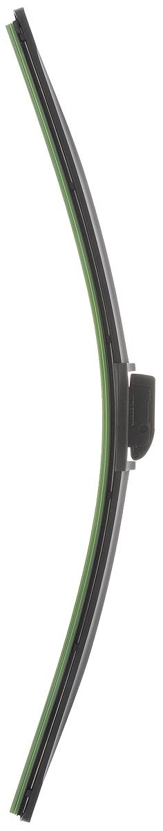 Щетка стеклоочистителя Wonderful, бескаркасная, с тефлоном, с 10 адаптерами, длина 55 см, 1 шт901926Бескаркасная универсальная щетка Wonderful, выполненная по современной технологии из высококачественных материалов, предназначена для установки на переднее стекло автомобиля. Направляющая шина, расположенная внутри чистящего полотна, равномерно распределяет прижимное усилие по всей длине, точно повторяя рельеф щетки, что обеспечивает наиболее полное очищение стекла за один проход. Отличается высоким качеством исполнения и оптимально подходит для замены оригинальных щеток, установленных на конвейере. Обеспечивает качественную очистку стекла в любую погоду. Изделие оснащено 10 адаптерами, которые превосходно подходят для наиболее распространенных типов креплений. Простой и быстрый монтаж.
