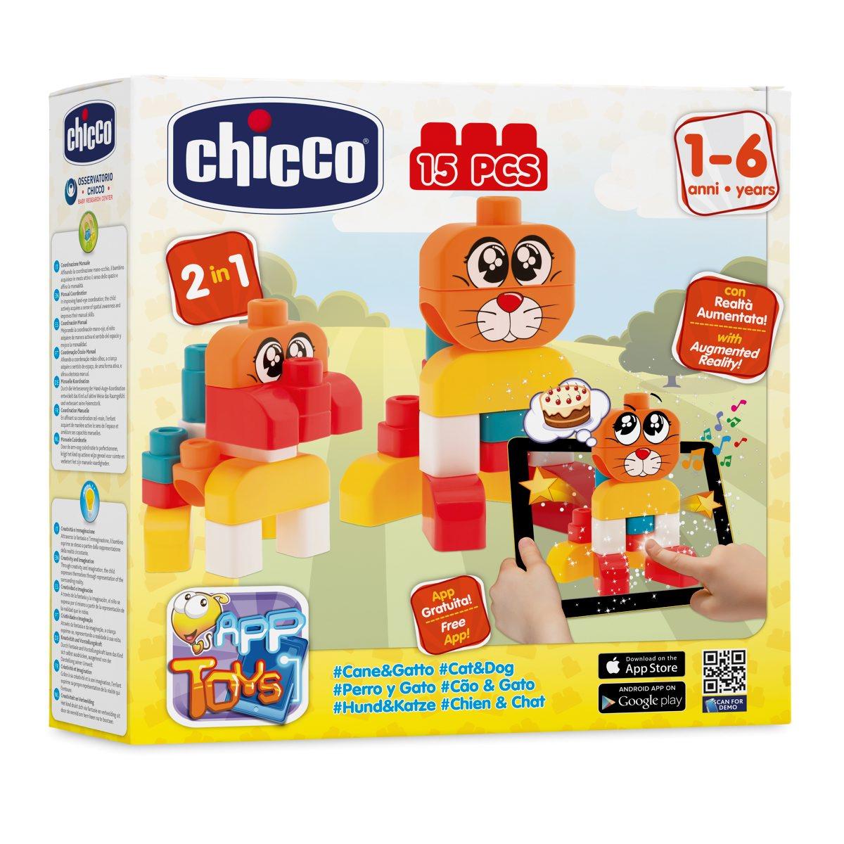 Chicco Набор строительных блоков Кошка/Собака00002306000000
