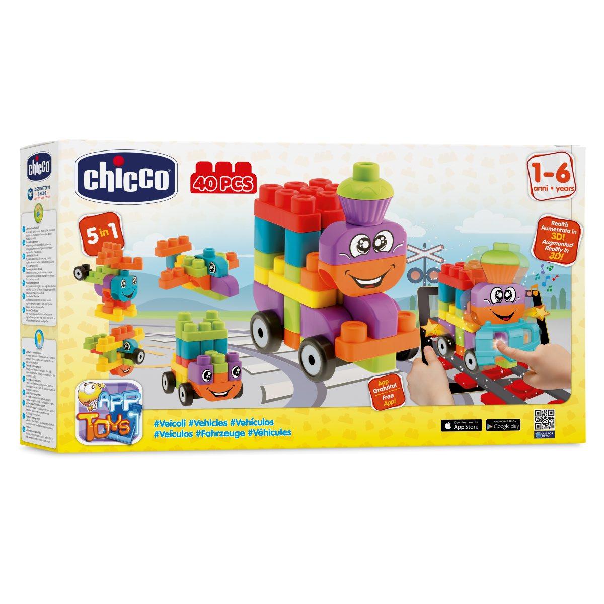 Chicco Набор строительных блоков Машины00060136000000