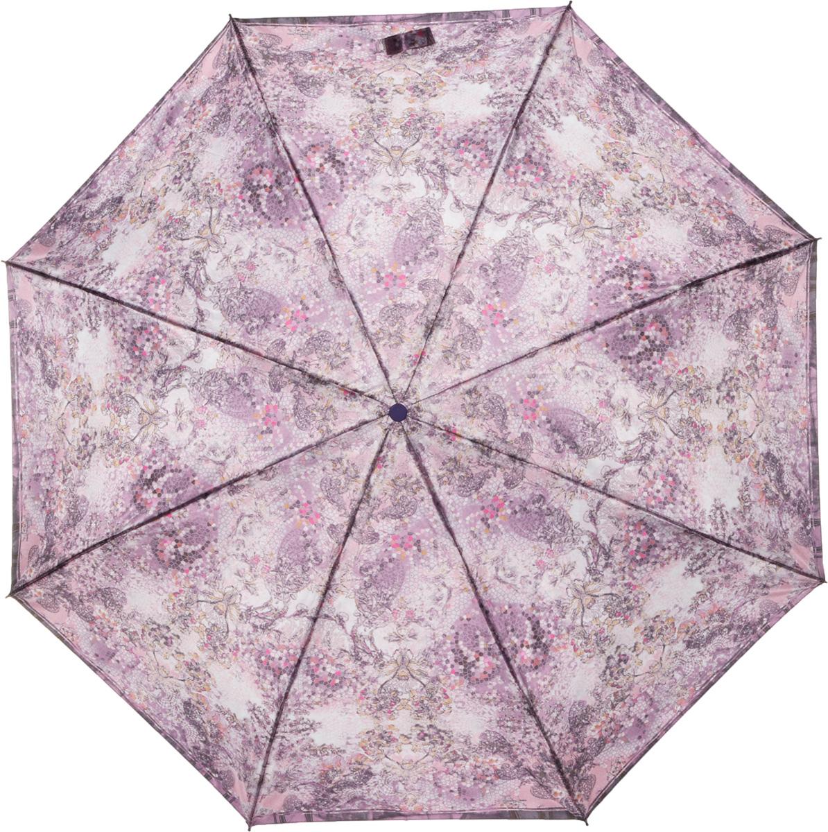 Зонт женский Eleganzza, автомат, 3 сложения, цвет: бежевый. A3-05-0275LA3-05-0275LЖенский зонт-автомат. Материал купола 100% полиэстер, сатин. Материал каркаса: сталь + фибергласс. Материал ручки: пластик. Длина изделия - 30 см, диаметр купола - 105 см.