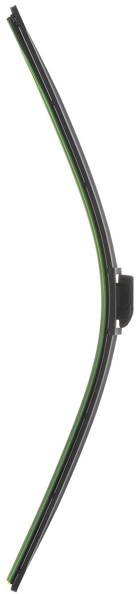 Щетка стеклоочистителя Wonderful, бескаркасная, с тефлоном, с 10 адаптерами, длина 67,5 см, 1 шт901930Бескаркасная универсальная щетка Wonderful, выполненная по современной технологии из высококачественных материалов, предназначена для установки на переднее стекло автомобиля. Направляющая шина, расположенная внутри чистящего полотна, равномерно распределяет прижимное усилие по всей длине, точно повторяя рельеф щетки, что обеспечивает наиболее полное очищение стекла за один проход. Отличается высоким качеством исполнения и оптимально подходит для замены оригинальных щеток, установленных на конвейере. Обеспечивает качественную очистку стекла в любую погоду. Изделие оснащено 10 адаптерами, которые превосходно подходят для наиболее распространенных типов креплений. Простой и быстрый монтаж.