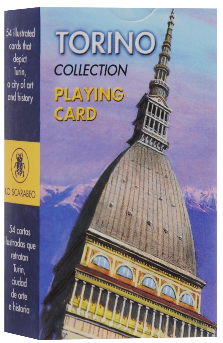 Карты игральные Lo Scarabeo Торин, 54 карты. PC50РС50Коллекционные игральные карты выполнены из картона с пластиковым покрытием и оформлены фотографиями с видами Torino. Карты имеют стандартный индекс, гладкую поверхность и стандартный размер.