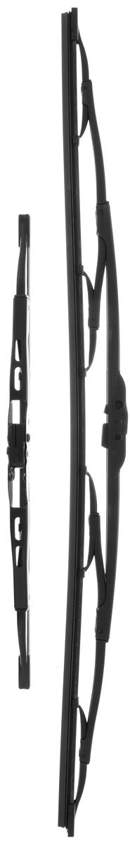 Щетка стеклоочистителя Bosch 605, каркасная, длина 60/34 см, 2 шт3397010270Комплект Bosch 605 состоит из двух щеток разной длины, выполненных по современной технологии из высококачественных материалов. Они обеспечивают идеальную очистку стекла в любую погоду. TWIN - серия классических каркасных щеток от компании Bosch. Эти щетки имеют полностью металлический каркас с двойной защитой от коррозии и сверхточный профиль резинового элемента с двумя чистящими кромками. Комплектация: 2 шт.