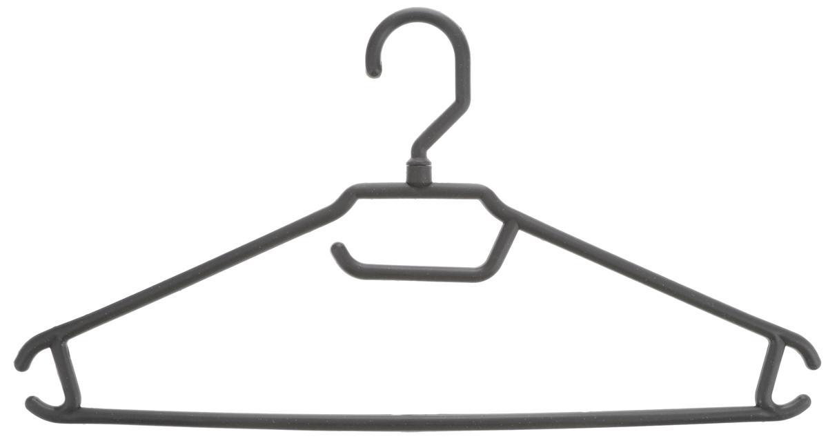 Вешалка для одежды BranQ, цвет: серый, размер 48-50BQ1892_серыйВешалка BranQ изготовлена из полипропилена. Изделие оснащено перекладиной и боковыми крючками. Вешалка - это незаменимая вещь для того, чтобы одежда всегда оставалась в хорошем состоянии и имела опрятный вид. Размер одежды: 48-50.