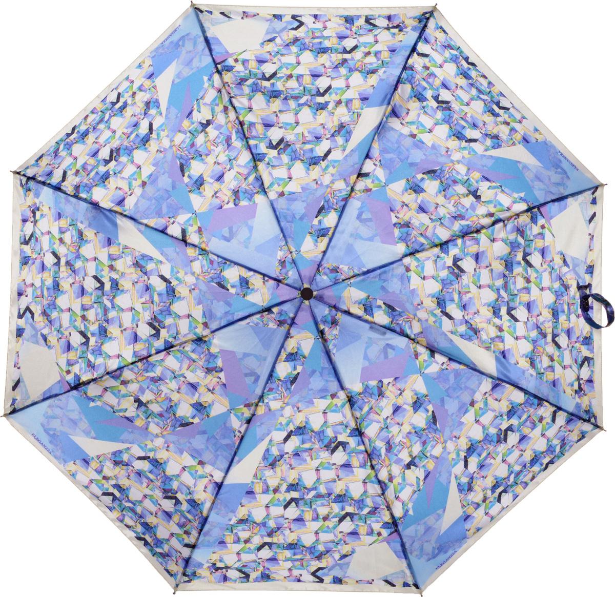 Зонт женский Eleganzza, автомат, 3 сложения, цвет: фиолетовый. A3-05-0300LSA3-05-0300LSЖенский зонт-автомат торговой марки ELEGANZZA с каркасом Smart, который позволяет без особых усилий складывать зонт, не позволяя стержню вылетать обратно. Купол: 100% полиэстер, сатин. Материал каркаса: сталь + алюминий + фибергласс. Материал ручки: пластик. Длина изделия - 30 см. Диаметр купола - 105 см. Система Smart, не позволяет стержню при сложении вылететь обратно, это облегчает сложение зонта! При сложении есть характерный звук-треск, как трещетка. Примечание: зонт не откроется с кнопки если его не закрыть до щелчка!