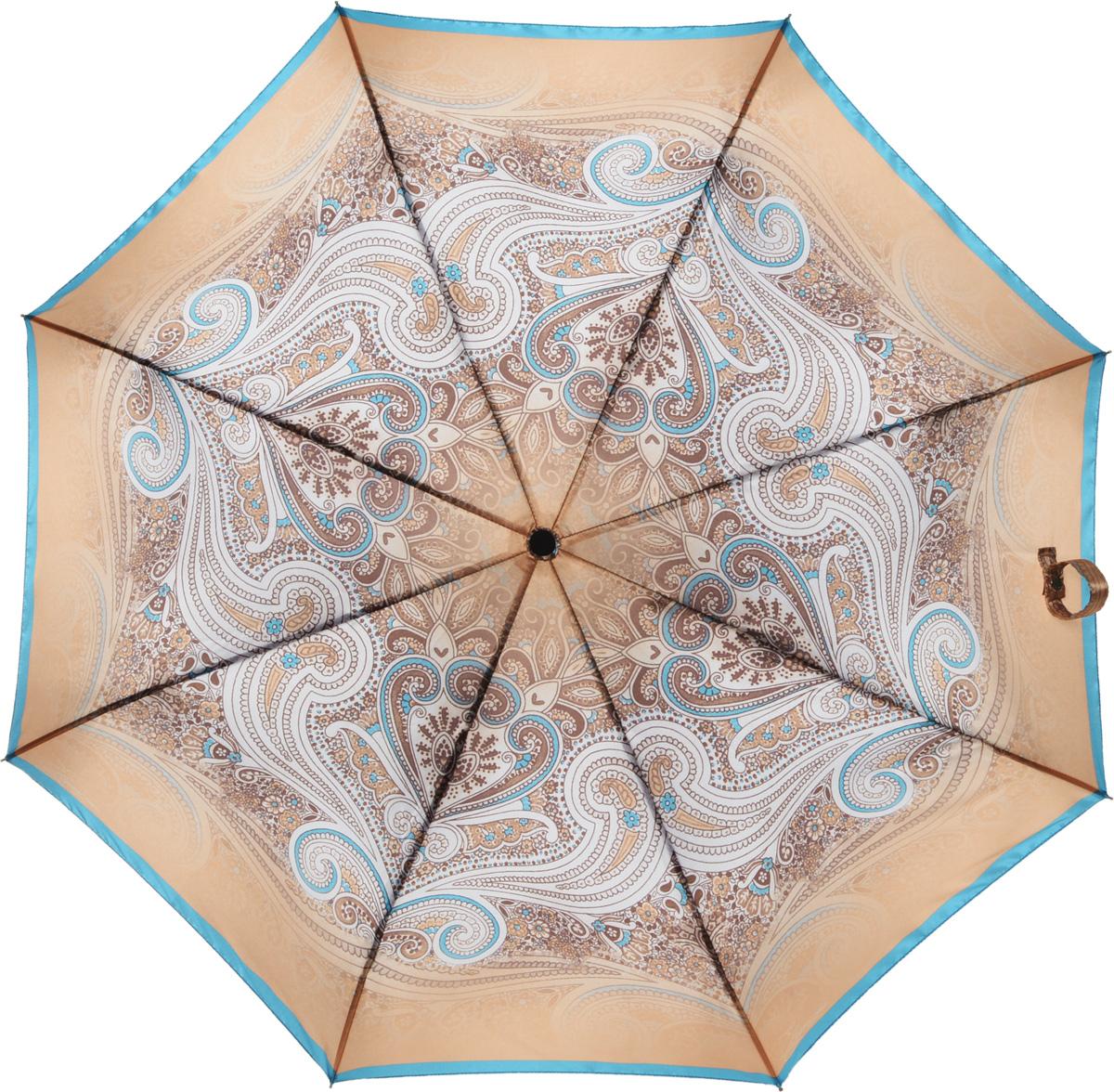 Зонт женский Eleganzza, автомат, 3 сложения, цвет: коричневый. A3-05-0293SA3-05-0293SЖенский зонт-автомат торговой марки ELEGANZZA с каркасом Smart, который позволяет без особых усилий складывать зонт, не позволяя стержню вылетать обратно. Купол: 100% полиэстер, сатин. Материал каркаса: сталь + алюминий + фибергласс. Материал ручки: пластик. Длина изделия - 30 см. Диаметр купола - 100 см. Система Smart, не позволяет стержню при сложении вылететь обратно, это облегчает сложение зонта! При сложении есть характерный звук-треск, как трещетка. Примечание: зонт не откроется с кнопки если его не закрыть до щелчка!
