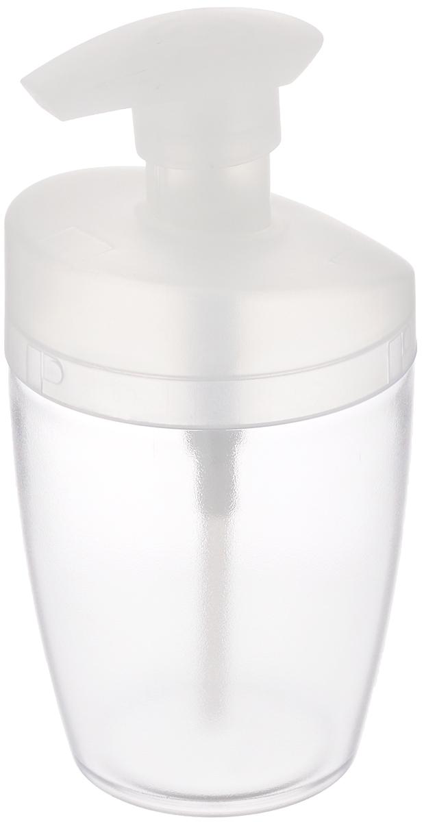 Дозатор для моющего средства Tescoma Clean Kit, цвет: прозрачный, белый, 400 мл900610_белыйДозатор Tescoma Clean Kit, выполненный из прочного пластика, прекрасно подходит для удобной дозировки и хранения моющих средств на кухонном гарнитуре, рядом с мойкой. Подходит для мытья в посудомоечной машине. Высота дозатора (с учетом крышки): 16 см. Диаметр основания дозатора: 6 см.