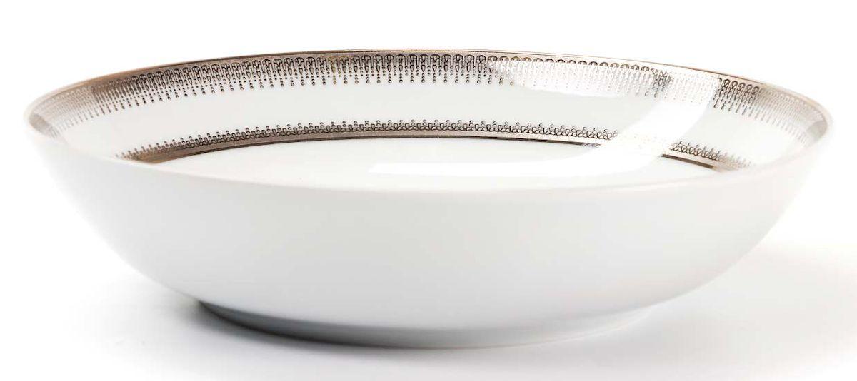 Набор глубоких тарелок La Rose Des Sables Princier Platine, 22 см, 6 шт539124 1801Элегантная посуда класса люкс теперь на вашем столе каждый день. Сделанные из высококачественного материала с использованием новейших технологий, предметы сервировки невероятно прочны и прекрасно подходят для повседневного использования. Классическая форма и чистота линий делает их желанными гостями на любом обеде. Уникальная плотность и тонкость фарфора достигается за счет изготовления его из уникальной глины региона Лимож (Франция). Посуда устойчива к сколам и трещинам благодаря двойному термическому обжигу. Золотой, серебряный декор посуды отличается высоким содержанием настоящего золота и серебра.