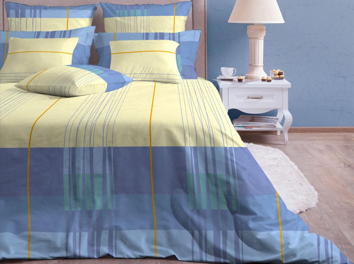 Комплект белья Хлопковый Край Горизонт, 2-спальный, наволочки 70х7020б-1ХКссКомплект постельного белья выполнен из качественной бязи и украшен оригинальным рисунком. Комплект состоит из пододеяльника, простыни и двух наволочек. Бязь представляет из себя хлопчатобумажную матовую ткань (не блестит). Главные отличия переплетения: оно плотное, нити толстые и частые. Из-за этого материал очень прочный и практичный. Постельное белье Хлопковый Край экологичное, гипоаллергенное, оно легко стирается и гладится, не сильно мнется и выдерживает очень много стирок, при этом сохраняя яркость цвета и рисунка.