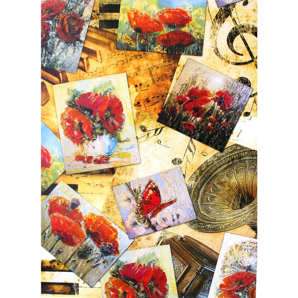 Декупажная карта Freedecor Открытки с маками, А4, 70 гр./м.кв. Dk 3085685686_3085открыткисмакамиДекупажная карта - оригинальная специальная бумага с нанесенным рисунком для использования в технике декупажа. Интересные мотивы, изображенные на бумаге, сделают процесс рукоделия занятным.