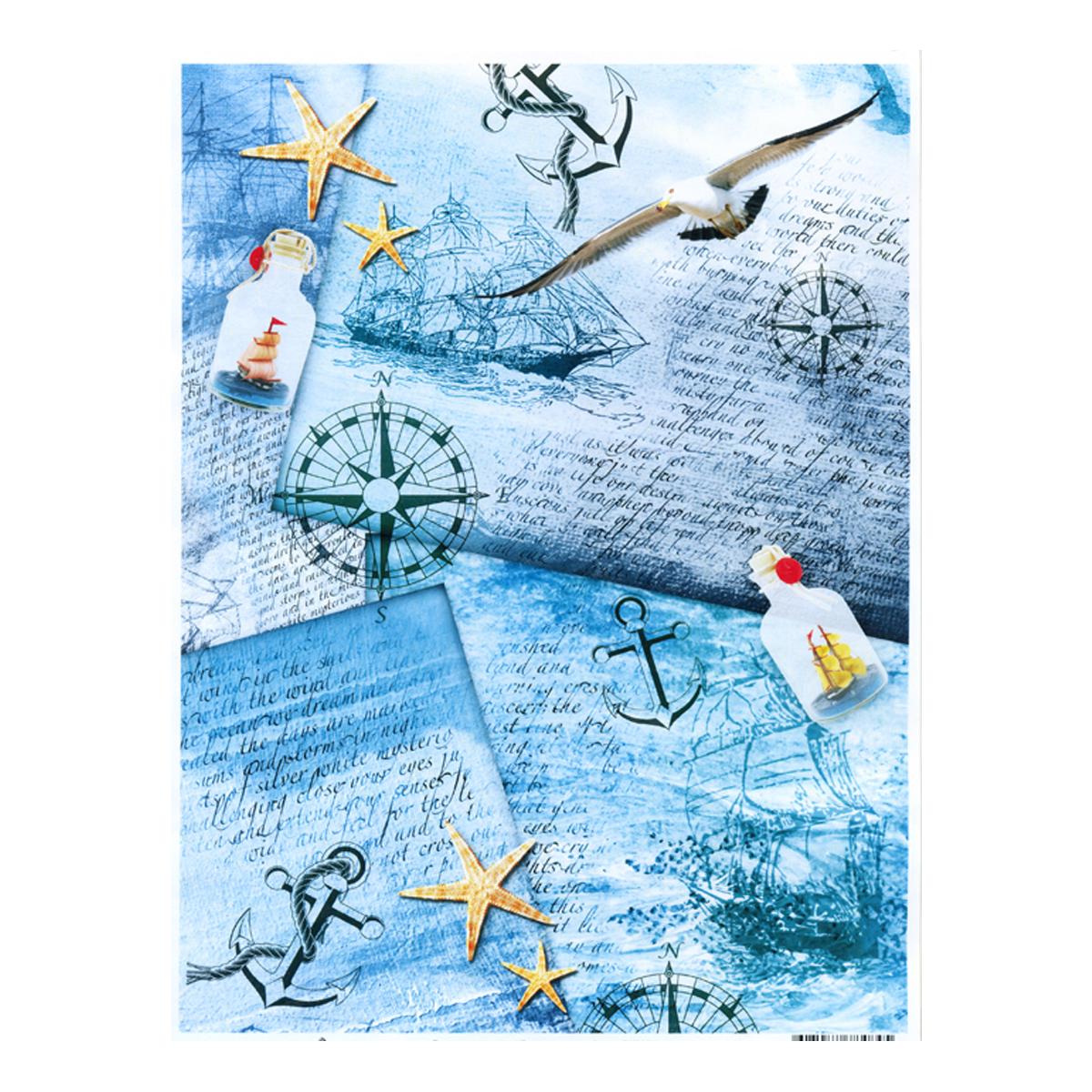 Декупажная карта Freedecor Дневник моряка, А4, 70 гр./м.кв. Dk 3034685686_3034дневникморякаДекупажная карта - оригинальная специальная бумага с нанесенным рисунком для использования в технике декупажа. Интересные мотивы, изображенные на бумаге, сделают процесс рукоделия занятным.