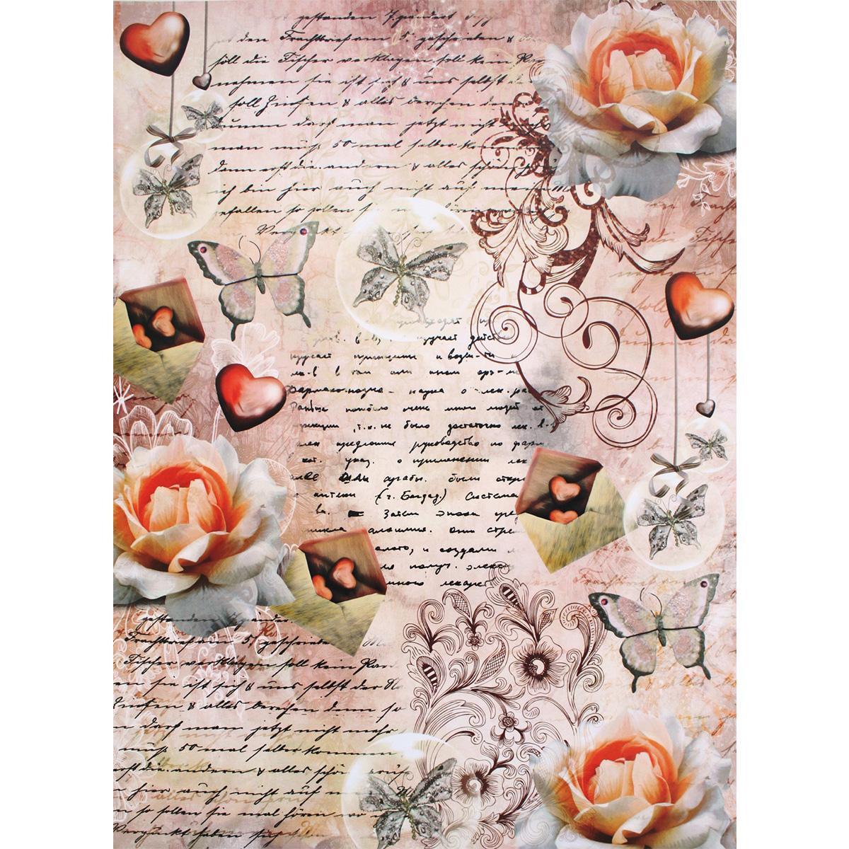 Декупажная карта Freedecor Письма любви, А3, 80 гр./м.кв. Dk 437680073_437ПисьмалюбвиДекупажные карты Фридекор отличаются оригинальными, стильными дизайнами и прекрасным качеством. Печать декупажных карт происходит на бумаге плотностью 80 гр/м2.