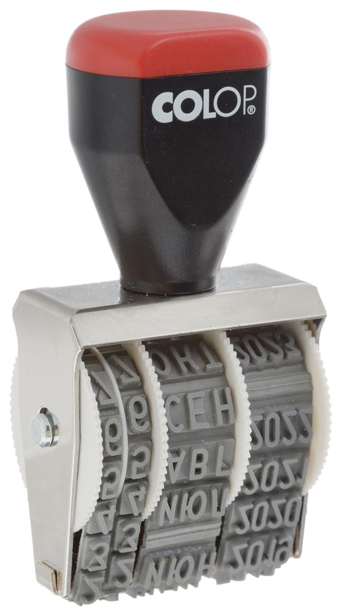 Colop Датер ленточный месяц прописью 5 мм05000Датер ленточный Colop используется для проставления даты производства, срока годности. Изделие имеет удобную рукоятку и металлический корпус. Для получения оттиска датер предварительно окрашивается при помощи настольной штемпельной подушки. Дата устанавливается вручную при помощи колесиков. Оттиск однострочный. Пример оттиска: 28 окт 2013. Высота шрифта: 5 мм.