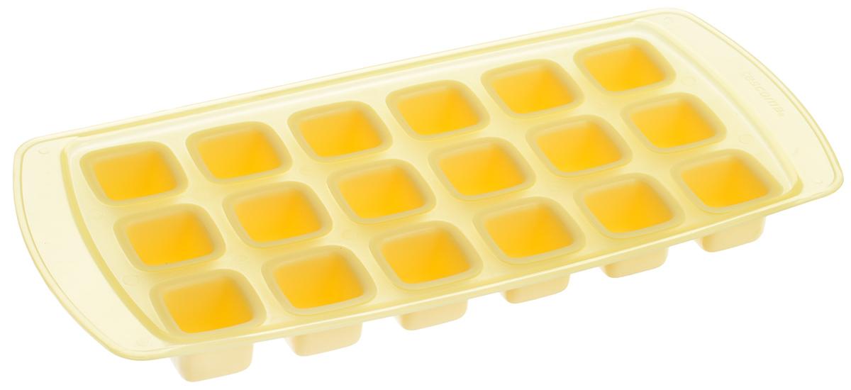 Форма для льда Tescoma Presto, с гибким дном, цвет: желтый, 18 ячеек420708_желтыйФорма Tescoma Presto изготовлена из высококачественного пластика и содержит 18 ячеек. Гибкое дно позволяет без труда извлекать лед. Прекрасно подходит для приготовления кубиков льда. Изделие можно мыть в посудомоечной машине. Размер ячейки: 2,2 х 2,2 см. Количество ячеек: 18 шт. Размер формы: 25,5 х 12 х 2,5 см.