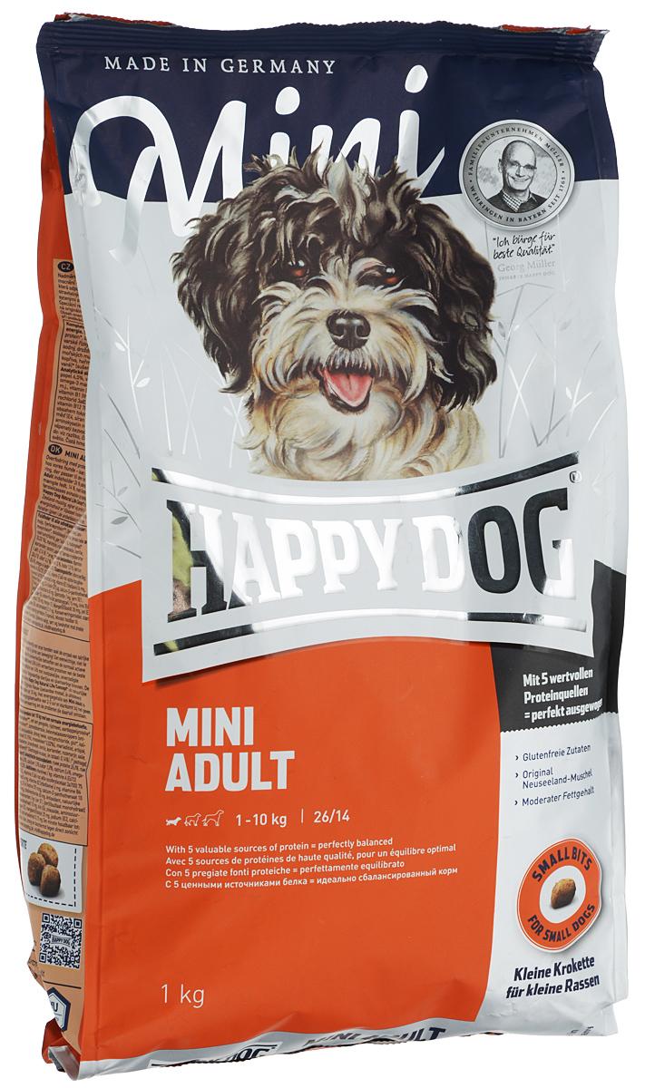 """Корм сухой Happy Dog """"Mini Adult"""" для взрослых собак маленьких пород, 1 кг 26355"""