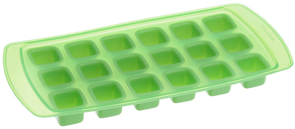 Форма для льда Tescoma Presto, с гибким дном, цвет: зеленый, 18 ячеек420708_зеленыйФорма Tescoma Presto, изготовленная из высококачественного пластика с гибким дном, содержит 18 ячеек. Прекрасно подходит для приготовления кубиков льда. Изделие можно мыть в посудомоечной машине. Размер ячейки: 2,2 х 2,2 см. Количество ячеек: 18 шт. Размер формы: 25,5 х 12 х 2,5 см.