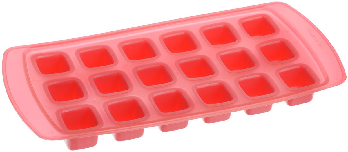 Форма для льда Tescoma Presto, с гибким дном, цвет: красный, 18 ячеек420708_красныйФорма Tescoma Presto, изготовленная из высококачественного пластика с гибким дном, содержит 18 ячеек. Прекрасно подходит для приготовления кубиков льда. Изделие можно мыть в посудомоечной машине. Размер ячейки: 2,2 х 2,2 см. Количество ячеек: 18 шт. Размер формы: 25,5 х 12 х 2,5 см.