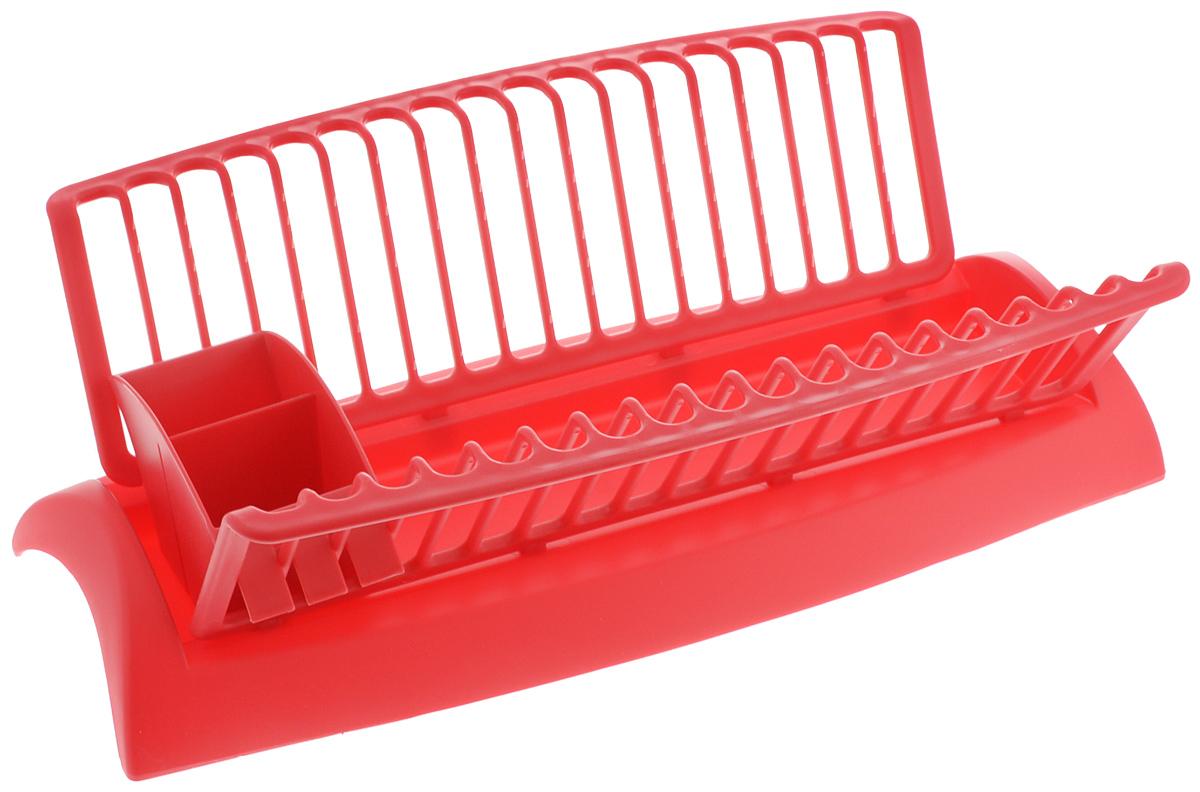 Сушилка для посуды Mayer & Boch, с поддоном, цвет: красный, 46 х 25 х 14 см23238_красныйСушилка Mayer & Boch, изготовленная из высококачественного полипропилена, представляет собой решетку с ячейками для посуды и подставки для столовых приборов. Изделие оснащено поддоном для стекания воды. Сушилка Mayer & Boch не займет много места на вашей кухне. Вы сможете разместить на ней большое количество предметов. Компактные размеры и оригинальный дизайн выделяют эту сушилку из ряда подобных. Размер сушилки: 46 х 25 х 14 см. Размер поддона: 46 х 18 х 6 см. Размер секции для приборов: 18 х 6,5 х 8,5 см.
