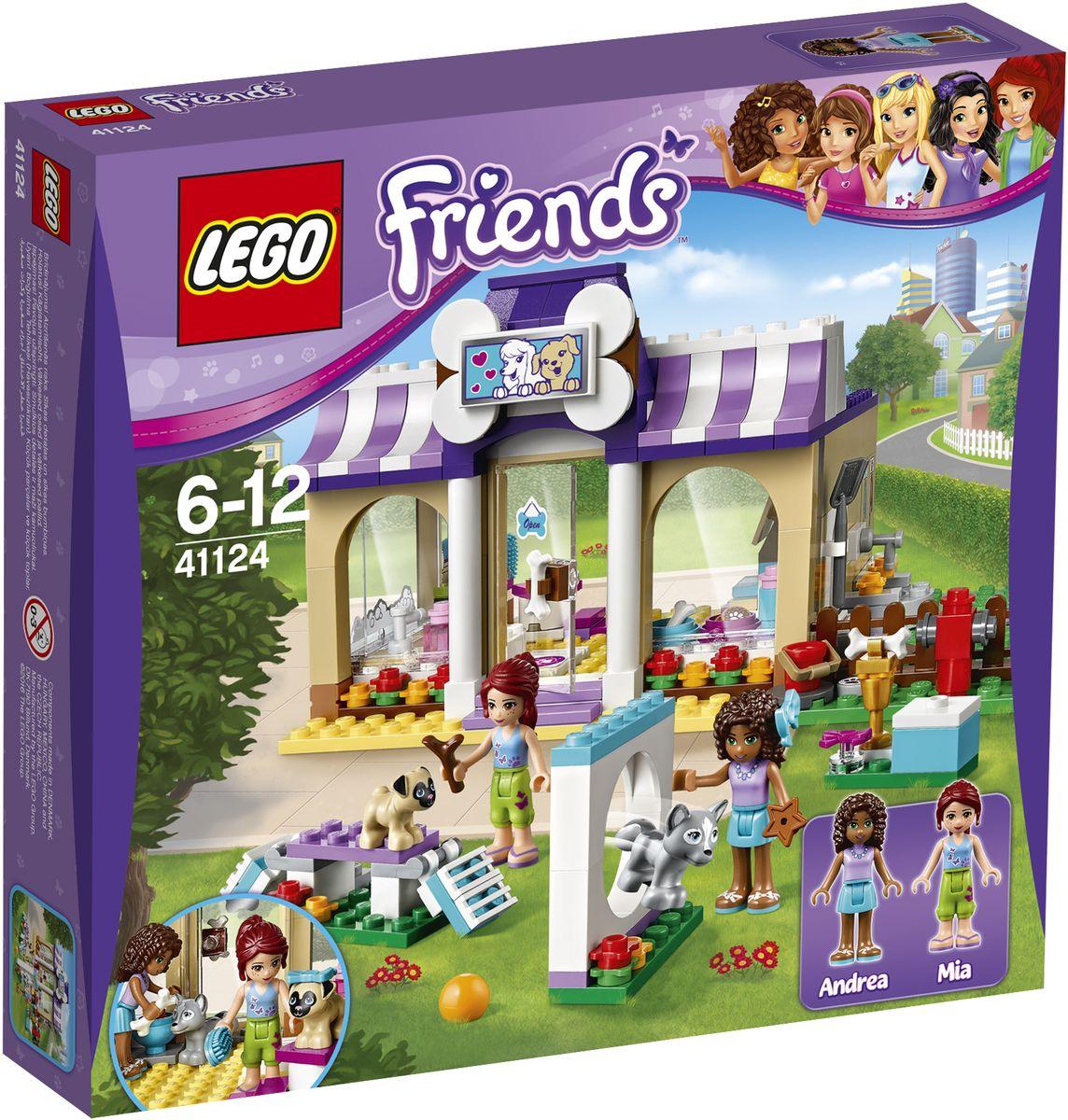 LEGO Friends Конструктор Детский сад для щенков 4112441124Все собаки Хартлейк-Сити любят играть в детском саду для щенков, созданном Андреа и Мией. Побегайте с ними по круговой дорожке в саду: здесь устроена настоящая игровая площадка для щенков! Зайдите внутрь, чтобы хорошенько вымыть хаски Луну и мопса Тофи в ванной и поиграть с ними. Затем покормите их и отправьте отдыхать на специальных кроватях, пока разбираетесь с новыми письмами от клиентов, пришедшими по электронной почте. Набор включает в себя 286 разноцветных пластиковых элементов. Конструктор - это один из самых увлекательных и веселых способов времяпрепровождения. Ребенок сможет часами играть с конструктором, придумывая различные ситуации и истории.