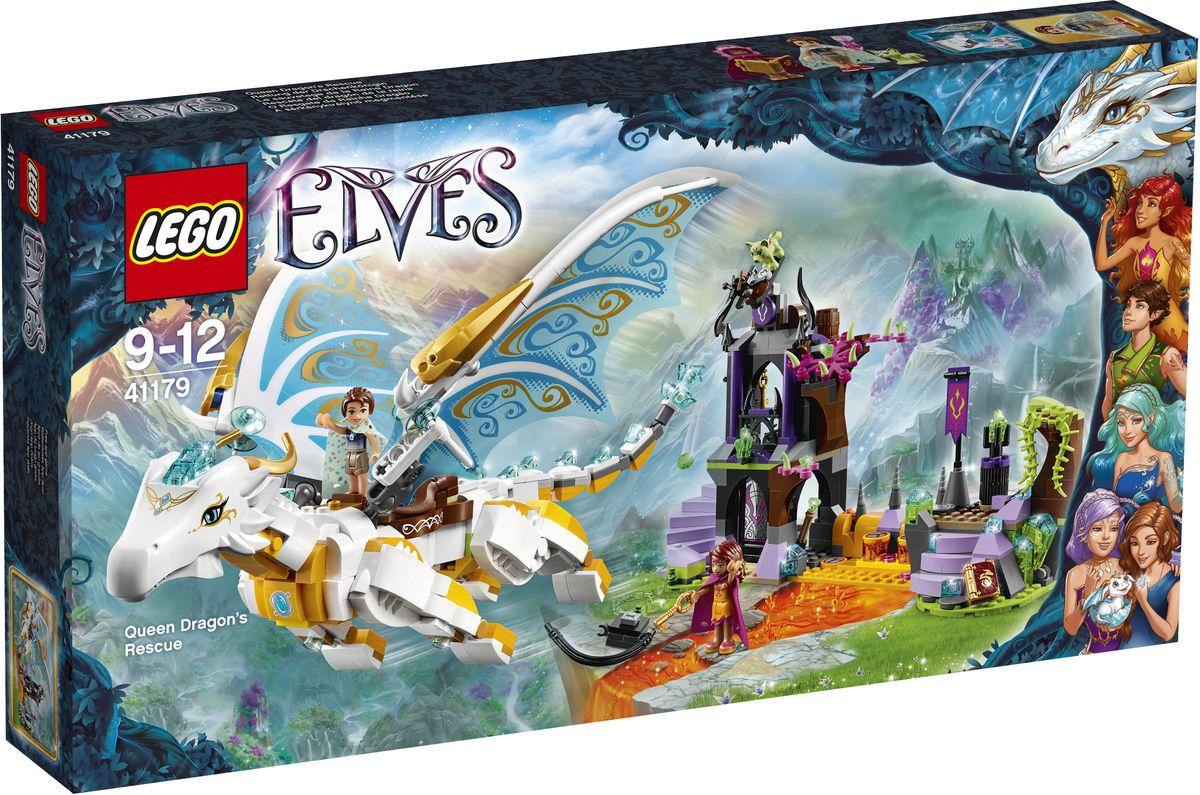 LEGO Elves Конструктор Спасение Королевы Драконов 4117941179Подручная эльфийской ведьмы, злобная лиса Дасти, охраняет башню замка, в которой заключена плененная Королева Драконов! Помогите Эмили Джонс и Азари проникнуть внутрь и найти ключ, чтобы отпереть цепи. Пройдите над лавовым котлом, используя способности Азари, и отвлеките Дасти. Вместе с Эмили освободите Королеву Драконов. После того как Азари снимет цепи, забирайтесь на спину дракона и скорее улетайте! Набор включает в себя 833 разноцветных пластиковых элемента. Конструктор - это один из самых увлекательных и веселых способов времяпрепровождения. Ребенок сможет часами играть с конструктором, придумывая различные ситуации и истории.