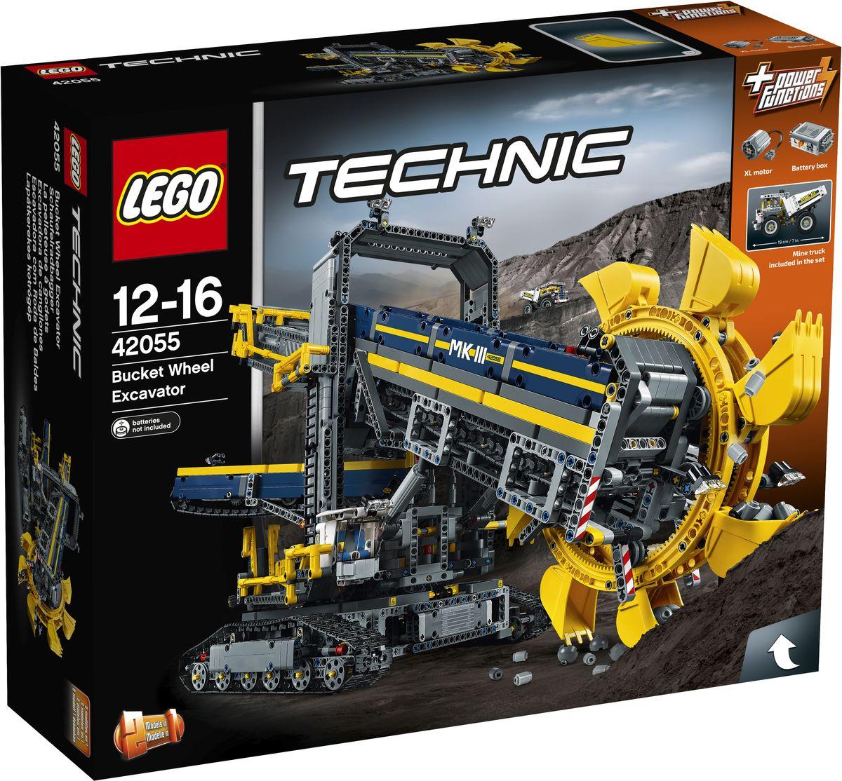 LEGO Technic Конструктор Роторный экскаватор 4205542055Наслаждайтесь сборкой и эксплуатацией этого массивного роторного экскаватора 2 в 1, самого большого набора LEGO Technic на сегодняшний день! Эта удивительная тщательно детализированная копия настоящего горного экскаватора исполнена в прекрасной цветовой гамме и поставляется с комплексом аутентичных возможностей и функций, в том числе мостиком с ручным управлением, огромными гусеницами и детализированной кабиной. Включите прилагаемый мотор Power Functions и сможете активировать конвейерные ленты, повернуть массивную верхнюю часть конструкции и переместить колоссальную машину в нужное положение. Затем активируйте стрелу, чтобы опустить колесо с гигантским ковшом, и погрузите добытую в шахте породу в ожидающий грузовик. Когда будете готовы к новой задаче, перестройте модель в мобильный дробильно-сортировочный завод. Набор включает в себя 3927 разноцветных пластиковых элементов. Конструктор станет замечательным сюрпризом вашему ребенку, который будет...