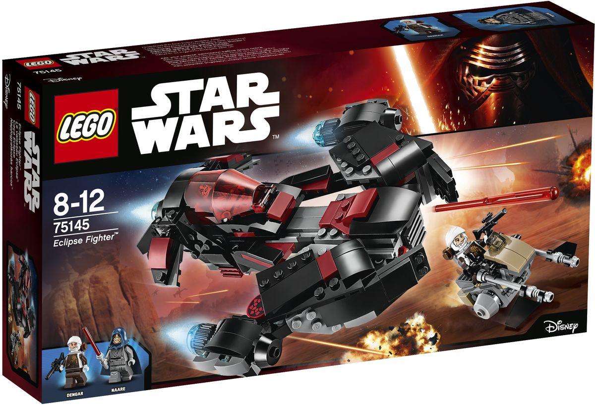 LEGO Star Wars Конструктор Истребитель Затмения 7514575145Беглый рыцарь-джедай Наари, искусный и таинственный пилот воина затмения, преследует одного из лучших охотников за головами вселенной Звездные войны - Денгара. Прыгайте вместе с Наари в истребитель и готовьтесь встретиться лицом к лицу с охотником за головами Дернгаром, мчащимся на своем спидере. Когда он не ожидает, трансформируйте машину, чтобы выдвинуть скрытые пружинные пушки! Конструктор LEGO Star Wars. Истребитель Затмения включает в себя 363 разноцветных пластиковых элемента. Конструктор станет замечательным сюрпризом вашему ребенку, который будет способствовать развитию мелкой моторики рук, внимательности, усидчивости и мышления. Играя с конструктором, ребенок научится собирать детали по образцу, проводить время с пользой и удовольствием.